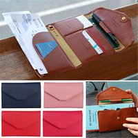 Wholesale 12 colors Designer Men and Women Leather Wallet Credit ID Card Holder Travel Passport Cash Organizer Bag Long Purse Wallet Handbags SJM06042