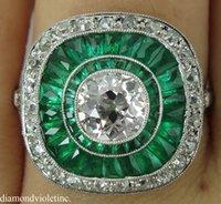 antique cushion diamond - 3 CT ANTIQUE VINTAGE OLD MINE CUSHION DIAMOND ENGAGEMENT WEDDING RING PT EGL