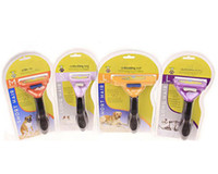 Wholesale 2016 Pet Brush for Dog and Cat deShedding Tool Grooming Yellow Long Hair Short Hair Expert WITH LOGO