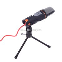 Wholesale High Quality Wired Stereo Condenser Microphone with Holder Clip for Chatting Singing Karaoke PC Laptop SF