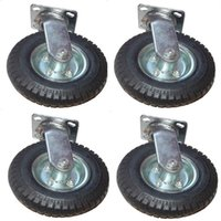 Wholesale 8in Air Tire Swivel Base Casters Heavy Duty Pneumatic New
