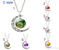american glass products - 2016 Hot glass cabochon necklace Poke Go Cartoon Fashion Peripheral Products Fashion Accessories Poke Ball Shape Time Gemstone Necklace