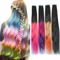 Wholesale 2016 fashion True hair PUand hair pieces Color non trace hair piece of double sided adhesive gradients