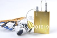 best portable binoculars - Portable Best Sale Yellow Dentist Dental Surgical Medical Binocular Loupes X mm Optical Glass Loupe LED Head Light Lamp