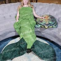 Wholesale Mermaid Sleeping Bags Blanket Fish Tail Indoor Snuggle Comfy Sleep Sacks Throw blanket cm