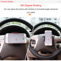 Wholesale Mini Car Steering Wheel Phone Stand Holder Steer Mount Case Cover Suporte For Iphone s Plus SE Lumia XL Doogee