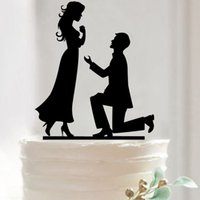 Wholesale Acrylic bride and groom cake topper customized wedding cake decorated insert