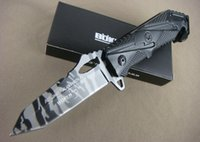 dive knife - Aluminum Handle OEM BOKER X47 Tactical Folding Knife Outdoor Diving Knives Movie Knife Camouflage Surface Rescue EDC Tools Dropshipping