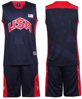 Wholesale NEW Team USA basketball clothes set basketball clothing Cheap Basketball sports Mens Shirt Jerseys Clothing