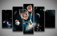 astro boy pictures - unframed Printed Cartoon Astro Boy painting panels set for wall children s room home decoration Canvas Print art Christmas gi