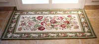 aubusson rug - Factory directly sell Aubusson jacquard floral pattern carpet mat rug anti slip door mat home decor home decoration