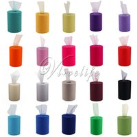 Wholesale 10Pcs quot x100yards Tulle Roll Spool Craft for Table Runner Skirts Table Chair Gifts Wedding Party Event Banquet Decor Supplies Colors