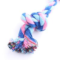 Wholesale Pet supplies pet rope toy double knot cotton rope molar tooth cleaning knot cm Color random delivery juguetes for dogs