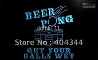 Wholesale LB939 TM Beer Pong Get Your Balls Wet Neon Light Sign Advertising led panel