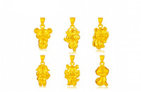 Wholesale Fashion k gold Chinese zodiac pendant not contain chain Rat Ox Tiger Rabbit Dragon Snake Horse Sheep Monkey Rooster Dog Pig EMKP36