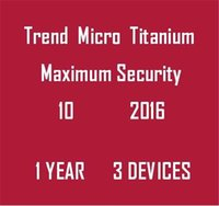 Wholesale 2016 Trend Micro Titanium Maxmium Security YEAR PC Year Fast Delivery Best to Protect Your Computer