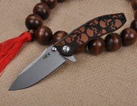 Wholesale ZT high quality knife ZT0560 D2 Blade HRC Titanium G10 handle Kinfe survival outdoor