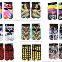 Wholesale Sports Socks Men s Women s D Printed Stocking New Fashion Hip Hop Cotton Sock Unisex Emoji Animal Cartoon