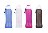 Wholesale S3 mL Folding Silicone Water Bottle BPA Free Food Grade Silicone Flexible Collapsible Bottle Drinkware for Travel Sport Camping Hiking