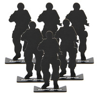 Wholesale 10pcs full metal soldier model target for airsoft