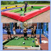Wholesale Black Inflatable Snookball Table Snookball Football Table Inflatable Snookball Soccer Table with of snookball and the air blower