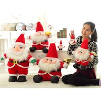 big sat - Christmas Sitting Santa Claus Plush Doll Toys Cartoon Stuffed Animals Plush Toys Cute Party Decorations Anime Dolls Gifts