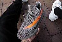 Wholesale 2016 top High Quality Boost Kanye Men s and Women running shoes west Black Gray beluga v2
