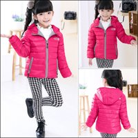 Wholesale Children Jackets Boys Girl Korean fashion down coat Years Baby Winter Warm Coat Kids fashion thick warm winter hooded Coat