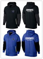 american dallas - winter fashion Dallas cheap cowboys American football hoodies fashion black red royal blue navy blue men Sweatshirts size M XL