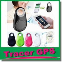 Wholesale Bluetooth GPS Tracker Anti Lost Alarm Tracer Bluetooth Key Finder Locator Remote Control Shutter for all Smartphone with Retail box OM CH3