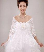 best beach accessories - 2016 best selling Wedding Dress Shawl White Lace flower Bride Wedding Shawls for beach Wedding accessories