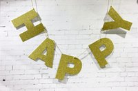 banner backdrop - 3m Gold Sparkly Glitter Banner Happy Birthday Banner st Birthday Banner Glitter Party Decor Gold Glitter Banner Photo Backdrop