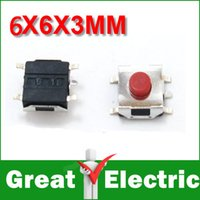 Wholesale PC SMD MM Tactile Tact Push Button Micro Switch Momentary YXSMDZ347