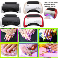 Wholesale Led UV lamp for nail Polish Gel w fast dry Curing Nail tools with automatic hand sensor EU AU US UK plug