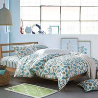 Cheap cotton mixed branches leaves bedspread set fresh style sheets sets Queen Double size comforter set bedding sets