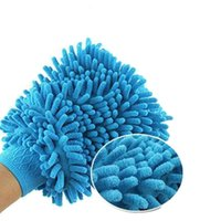 Wholesale Towel Coral Car Wash Glove Thick Double edged Snow Neil Microfiber Cleaning High Density Waterproof Gloves Mitt