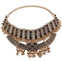 Boho Collier Choker Collier bijoux déclaration pour les femmes Mode Vintage style ethnique Bohême Métal Perles Colliers NSE955