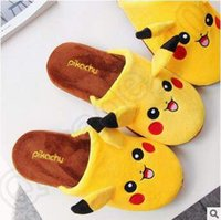 abnormal animals - New Unisex Poke Pikachu poke Plush Slipper Shoes pikachu Soft Warm Household Winter Slipper Indoor Slippers CCA5017 pair