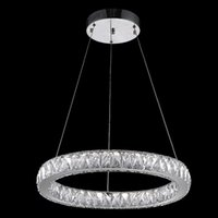 Wholesale VALLKIN Luxury Modern Crystal Pendant Light for Home Kitchen Room Dining Room Living Room Bar with Single D50CM W CE FCC ROHS