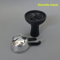 Wholesale pc high grade vortex Silicone Bowl And pc Charcoal Holder As Suit For Glass Shisha Hookahs
