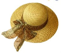 beach logo designs - 2016 professional factory price straw wide brim hat fashionable ladies straw hats with your design and logo