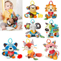 Wholesale 7 Arten Baby Spielzeug Tier Baby Rasseln Handys Infant Plusch Lernen Produkte Kinder Geschenk