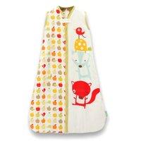 Wholesale Baby Wearable Sleep Sack Cotton Swaddling Blanket Dobby Prints Sleep Bag