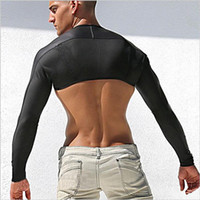 Wholesale Men Sexy leather Tank Tops breathable mesh vest man T shirt sleeves tight protection sleeve catwalk stage gym sports undershirt