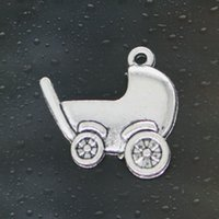 antique pram - HOT Fashion pram baby Charms Antique Silver Alloy Jewelry DIY For Pandora Bracelet Pendant Necklace mm