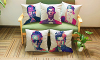 american culture art - American Colorful tough guy portrait art POP ART pillow massager decorative pillows case home colorful popular culture home