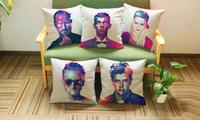 american pop culture - American Colorful tough guy portrait art POP ART pillow massager decorative pillows case home colorful popular culture home