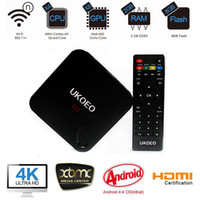 Wholesale UKOEO MBOX Amlogic S802 Quad core Android kitkat smart TV Box with KODI XBMC HDMI wifi support K P H