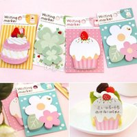 Wholesale 1pc Lovely Flower Cake Sticker Post Bookmark Marker Memo Flag Sticky Notes B00363 FASH