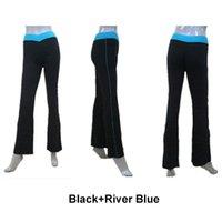 ballet dancewear pants - Dance Pants Two Tone Cotton Lycra with V Band Long Pants Girls Sports Dancewear Women Modern Jazz Dancing Full Sizes Colors